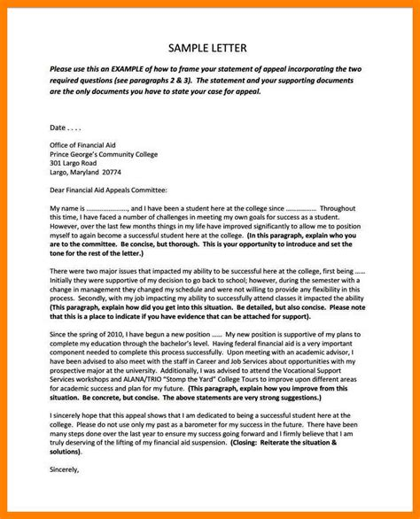 Nyu Financial Aid Appeal Letter Financial Aid Appeal Letter Writing Tips 5 Sles 9 Exle Of An Appeal Letter Quote