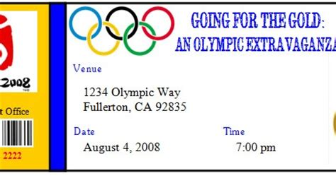Invite And Delight Going For The Gold Olympic Extravaganza Olympic Invitation Template