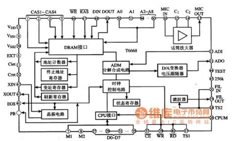 integrated circuit development process t6668 the audio process integrated circuit circuit diagram world
