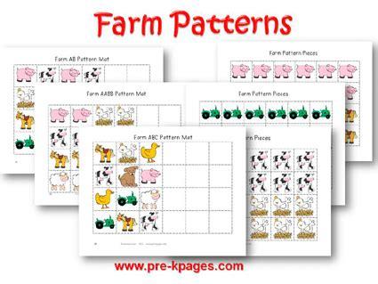 animal pattern games farm animal math worksheets for preschoolers animal math