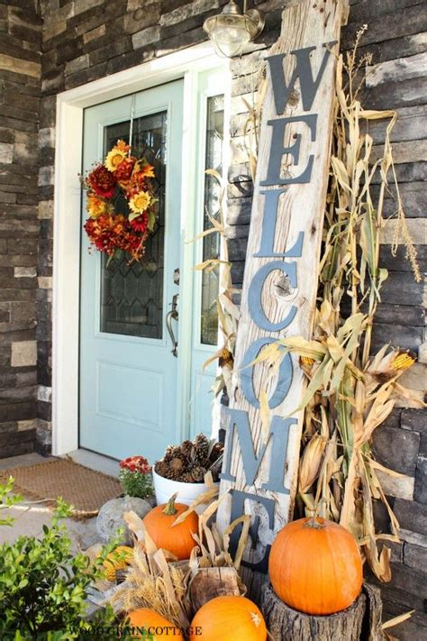 Fall Decorations For Front Door Fall Front Door Decor Ideas The Garden Glove
