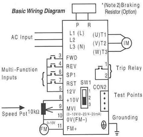 saftronics s10 ac drives basic wiring diagram obsolete