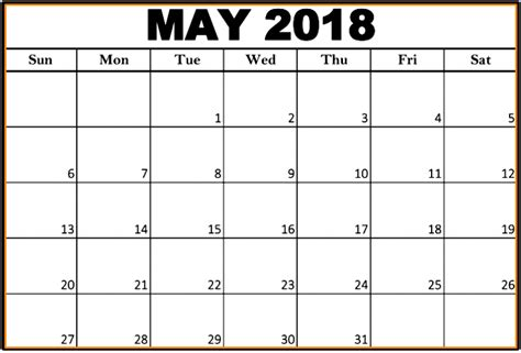 editable calendar template march 2018 may 2018 calendar editable printable