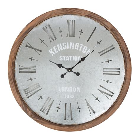 wood clock buy frankston rustic metal wood wall clock online purely