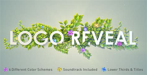 flower logo videohive free download free after videohive nature logo reveal free download free after