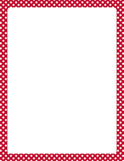 printable polka dot border paper printable red and white polka dot border free gif jpg