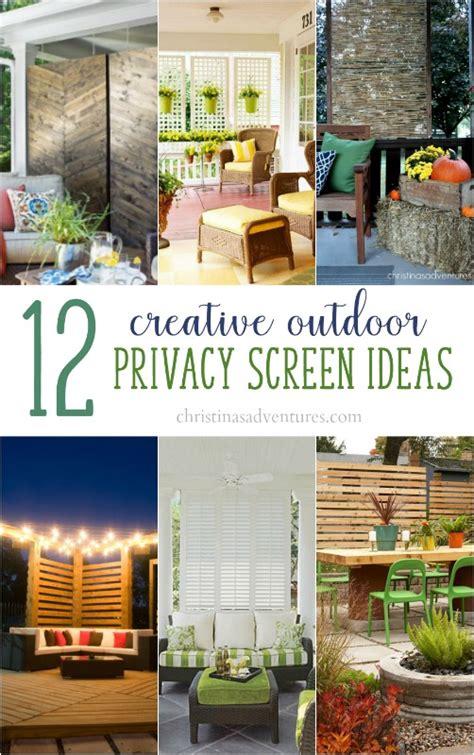 backyard privacy screen ideas outdoor privacy screen ideas christinas adventures
