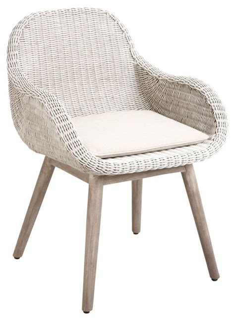 chaise salle a manger rotin fauteuil en rotin blanc et bois