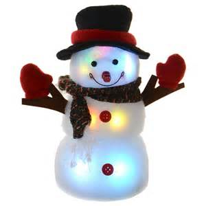 lights snowman battery operated festive 24cm light up colour changing