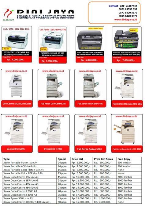 Mesin Fotocopy Kredit daftar harga mesin fotocopy dan toner hp wa