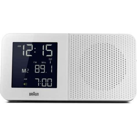 braun bnc white global radio controlled alarm clock radio