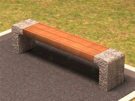 bench 3d model 3d model bench stone download to 3dlancer net
