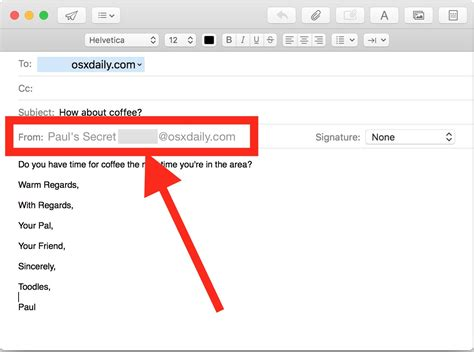 changing email address how to change the sent from email address on a mac osxdaily