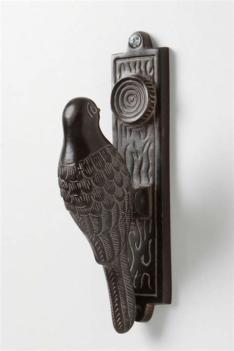 Bird Door Knocker by Woodpecker Knocker