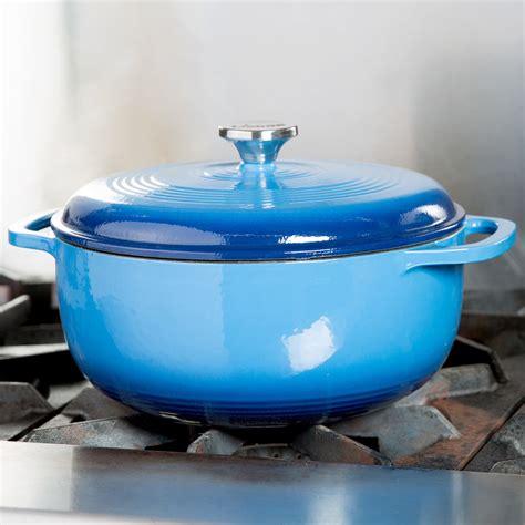 lodge color enamel 6 quart oven lodge ec6d33 6 qt caribbean blue color enamel oven