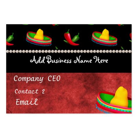 Mexican Business Card Template by Mexican Restaurant Business Card Zazzle