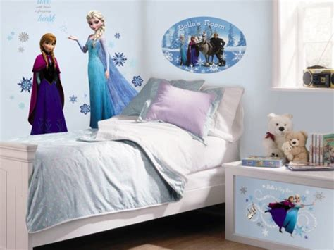 wallpaper frozen untuk dinding contoh gambar wallpaper dinding kamar tidur anak frozen