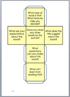 printable question dice reading comprehension comprehension and dice on pinterest