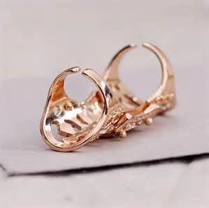 hollow flower knuckle rings finger ring jewelry