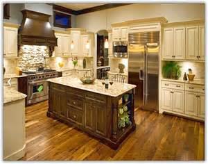 Tuscan kitchen white cabinets home design ideas