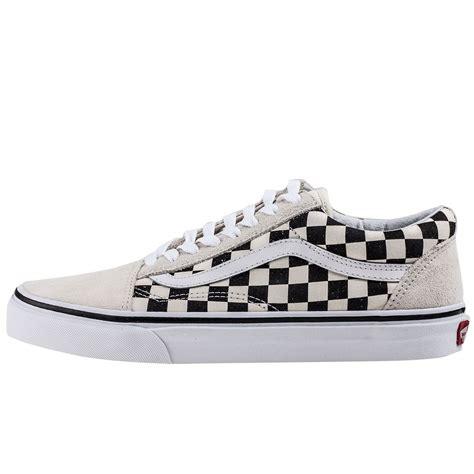 White School Vans Vans Skool Checkerboard Va38g127k Unisex Trainers In
