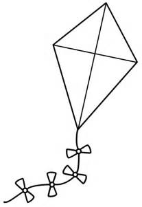 best photos of kite shape coloring page kite coloring