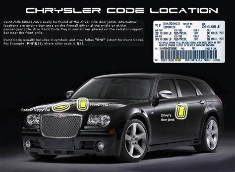 chrysler sebring 1997 paint codes carid