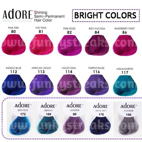 adore semi permanent hair color adore semi permanent hair dye health hair care