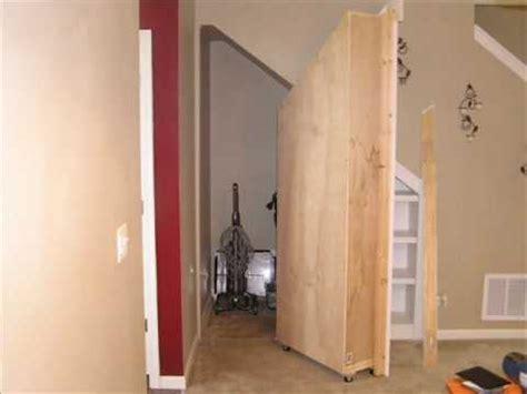 Hidden storage behind moving bookcase   YouTube
