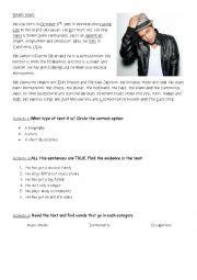Bruno Mars Biography Worksheet | english worksheets simple present worksheets page 335