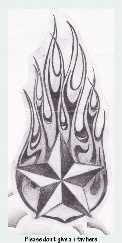 star with flames tattoo designs images designs