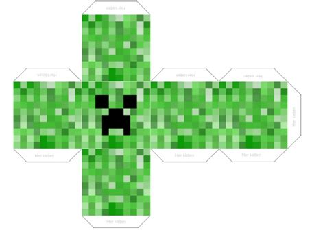 Minecraft Papercraft Creeper - minecraft papercraft creeper related keywords