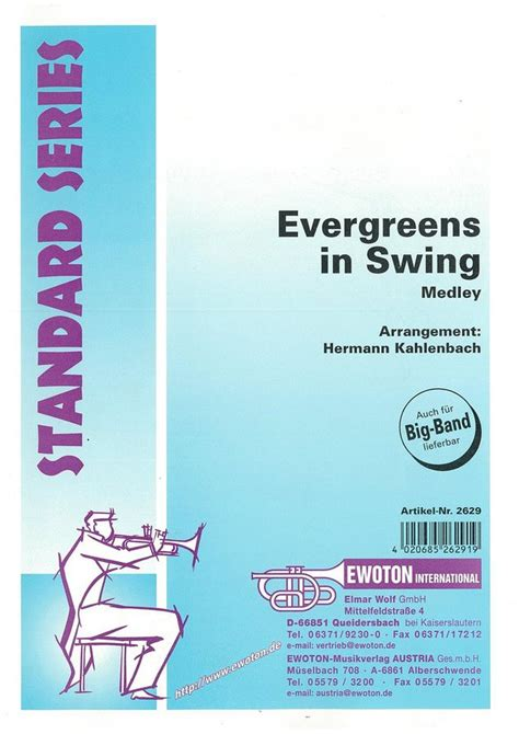 swing medley evergreens in swing medley noten medleys