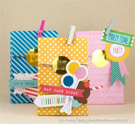 How To Make Birthday Gifts Out Of Paper - birthday gift bags pebbles inc