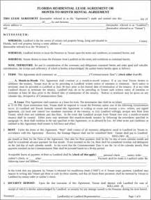 florida rental lease agreement templates florida rental agreement for free formtemplate