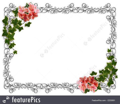Illustration Of Ivy Floral Border Invitation