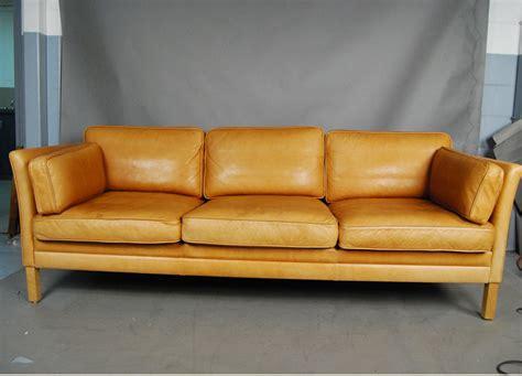 light tan leather couch sold mogens hansen light tan leather sofa 34d114 danish