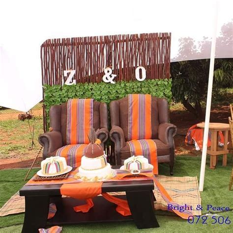 Venda Traditional Wedding. Main table.   Mbidzo Decor and