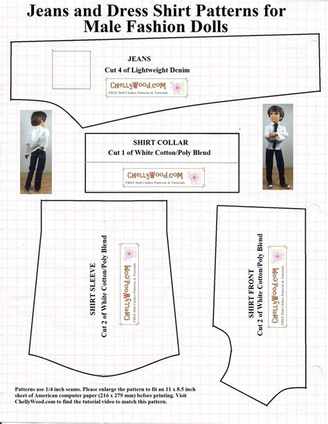 shirt pattern for ken doll 276 best doll clothes patterns mature dolls images on