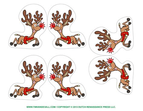 free printable christmas decorations free reindeer clipart template printable coloring pages for
