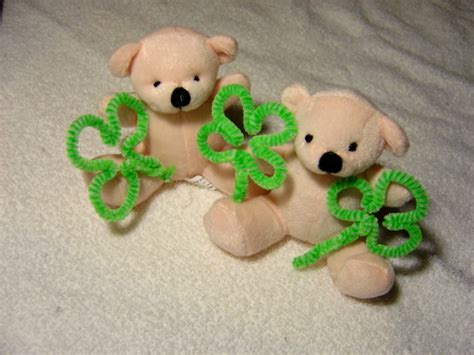 teddy rubber st teddy bears with shamrocks picture free photograph