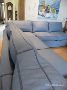 blue canvas slipcover for big sectional sofa the