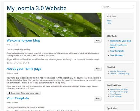 template protostar how to change your joomla 3 1 site template inmotion hosting