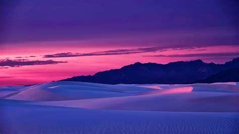 wallpaper landscape mountains sunset sand reflection