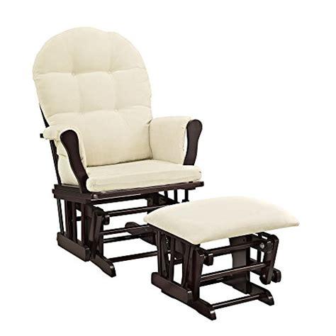 glider and ottoman cushions windsor glider and ottoman espresso w beige cushion home
