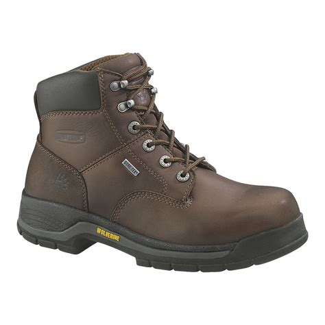 soft toe work boots for wolverine s harrison waterproof brown 6 quot soft toe work