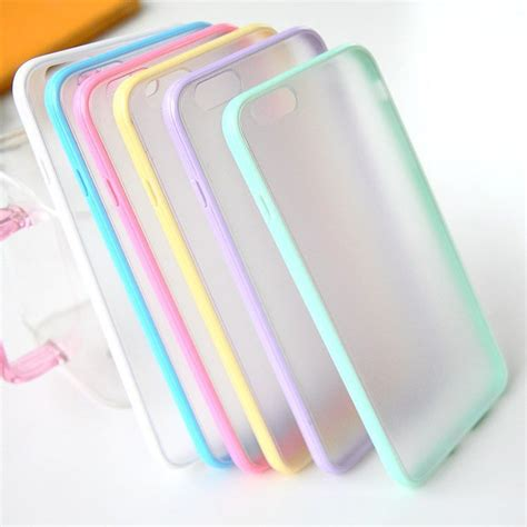 Slim Matte Warna Iphonesamsungxiaomioppovivo slim colorful frame clear with transparent matte back cover colorful frames