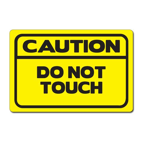 Custom Vinyl Stickers For Walls ai sdhand006 06 1 color caution do not touch vinyl