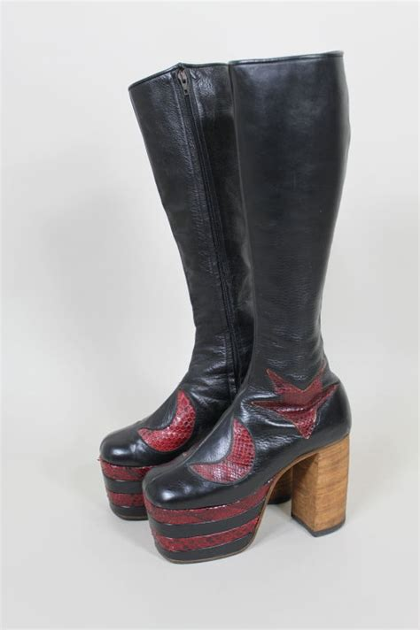 Trend Platform Shoes Bglam by 1970 S Glam Rock Platform Leather David Bowie Boots At 1stdibs