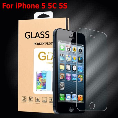 Pzoz Iphone 5 5s Se High Quality Screen Protector Back Front for iphone5 iphone 5 5c 5s screen protector high quality thin 0 3mm tempered glass for iphone 5